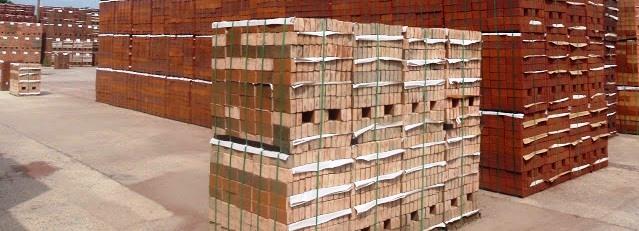 Brick Interleaving paper can be seen between the layers of bricks.