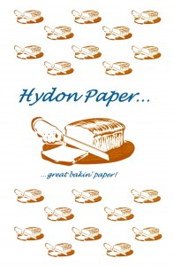 Example of printed greaseproof paper with registered print