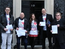 Bakers outside No 10