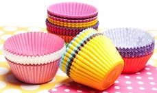 Grease resistant papers used for cup cake holders