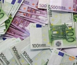 Specialised paper is used to print Euro banknotes