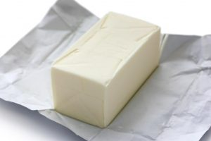 Laminated greaseproof paper used for wrapping butter.