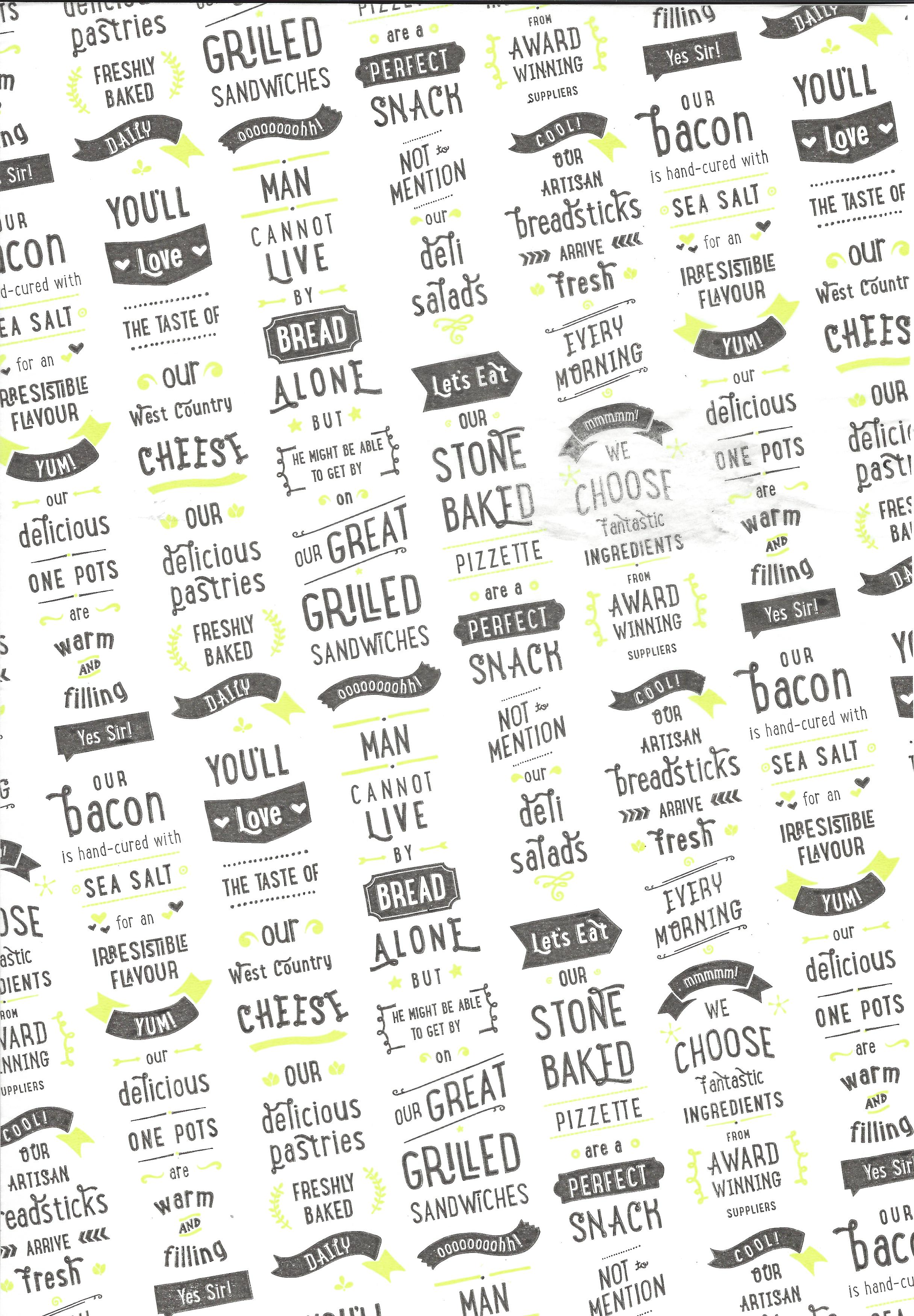 printed greaseproof paper other food approved papers hydon paper ltd