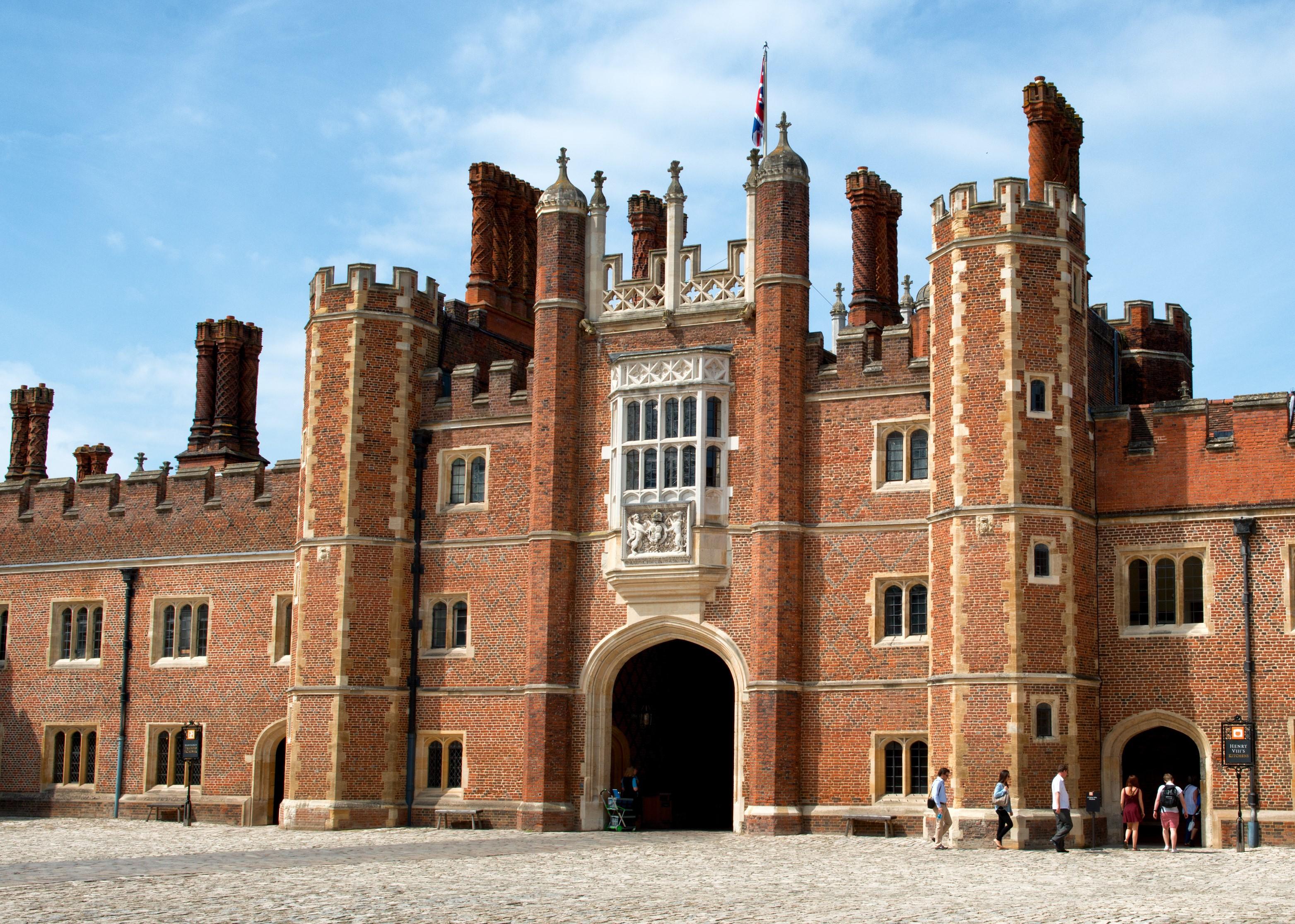 Brick facade of Hampton Court