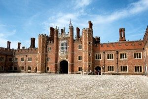 Brick facade of Hampton Court Palace