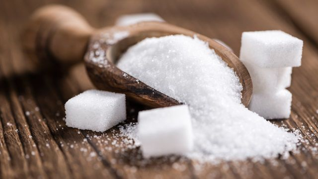 Sugar used in baking cakes with greaseproof paper